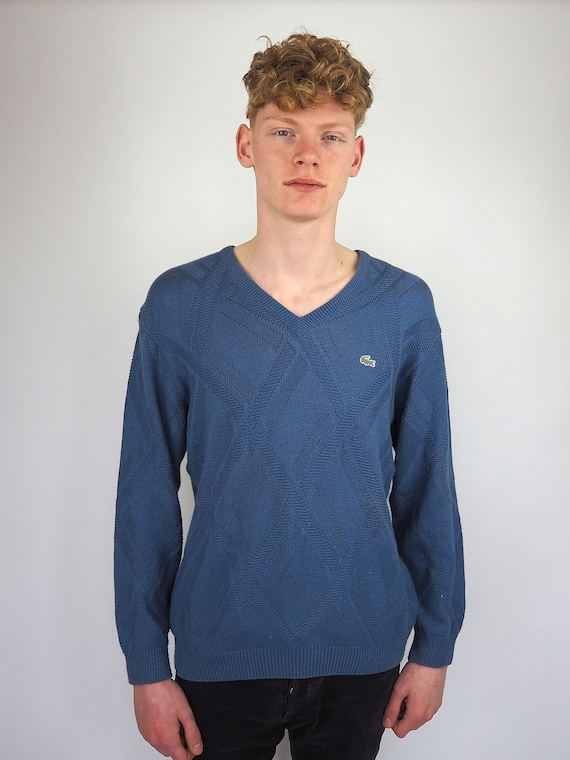great prices lace up in buying new Vintage 90's Lacoste Blue Jumper Size Large