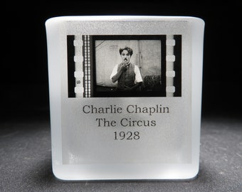 Charlie Chaplin - The Circus - Film Cell - Glass Votive