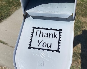 Mailbox Decal, Thank You Mailbox Stamp Decal, Mailman Stickers, Custom Mailbox Stickers, Thank You Postal Worker, Mom Gift Pump Up The Vinyl