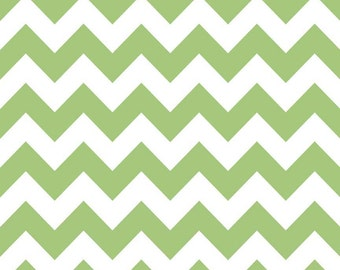 Riley Blake Fabric - Chevron - Green - 1 Yard