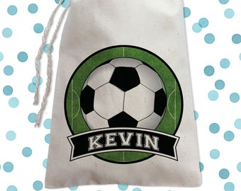 Soccer Birthday Party Favor Bags Sports Goodie Bag For Boys Canvas Drawstring Decor Ideas Candy
