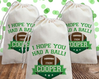 12 Superbowl TAILGATE Party Favors Football Field PAPER Goody Treat Bags SACKS
