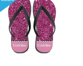 ed3999ab5000 Custom Flip Flops Summer Camp Gift Pool Flip Flops Summer
