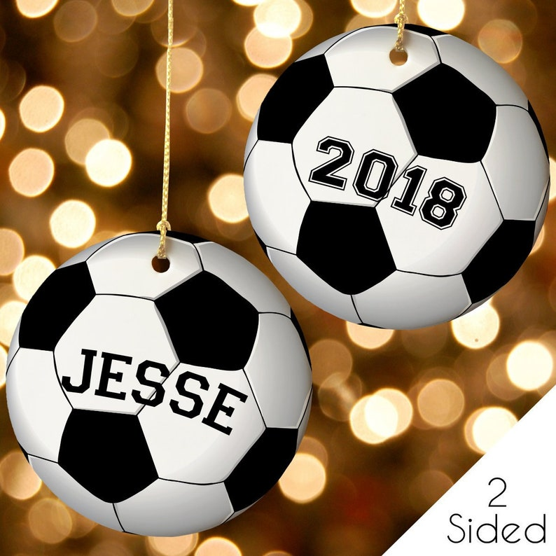 Soccer Christmas Ornament Custom Soccer Ornament Soccer Gift Idea Personalized Christmas Ornament Holiday Gift For Boys Sport Gift