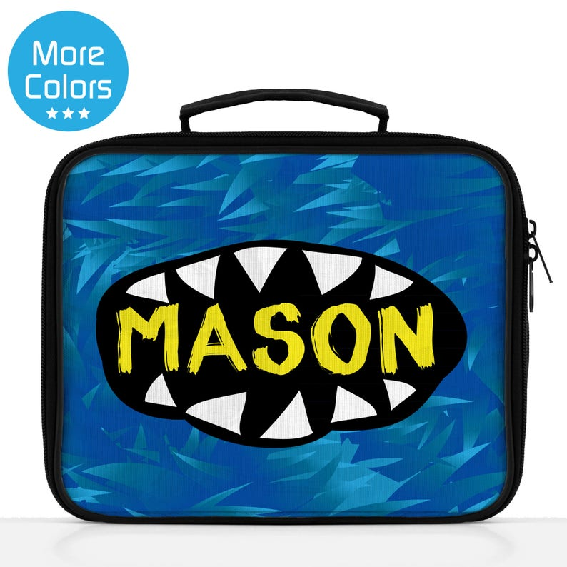 da0a3453690d Boys Personalized Lunch Bag, Personalized Monster Lunch Tote, Kids Custom  Lunch Box, Monster Gift Idea, Blue Lunch Box, Toddler Boy