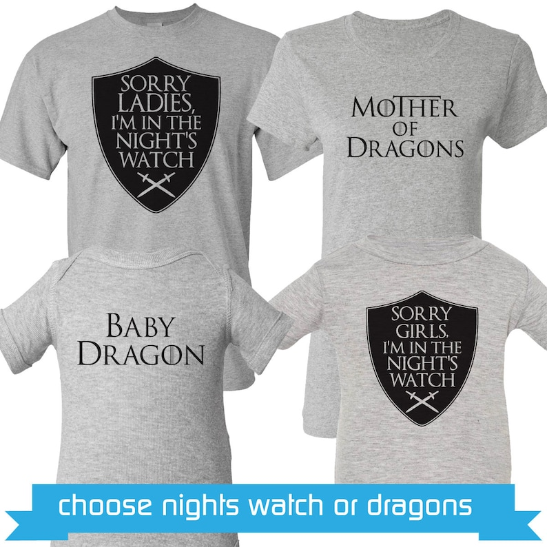 9b84e3af6 Game of Thrones Shirt Set Game of Thrones Shirts Mother of | Etsy