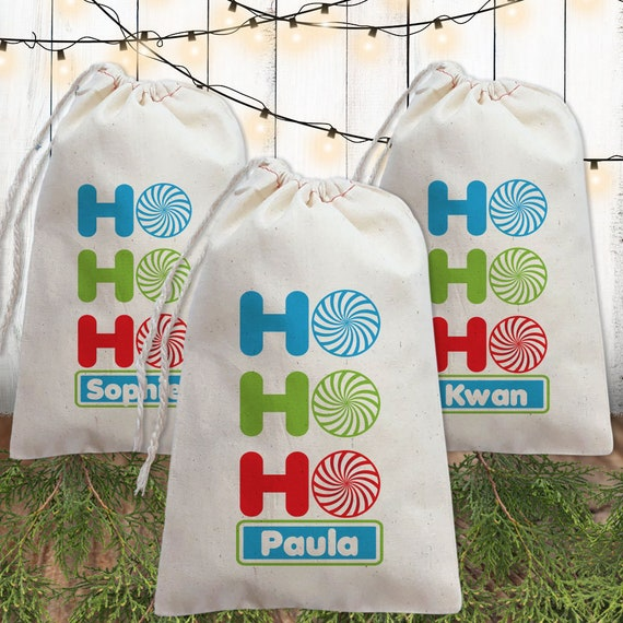 Christmas Gift Bags For Kids.Personalized Christmas Gift Bags For Kids Holiday Gift Bags With Names Christmas Favor Bags
