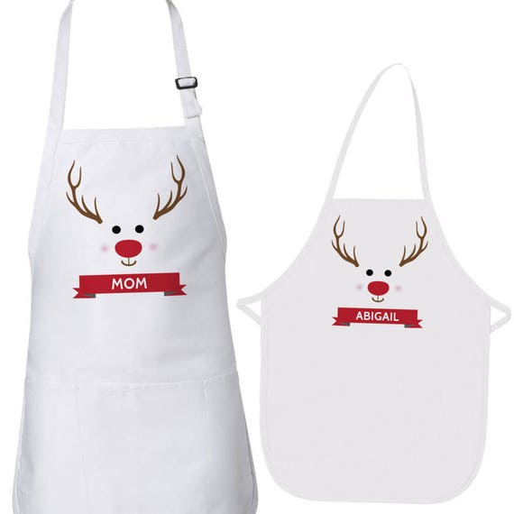Christmas Aprons Personalized Kids Apron Mom And Kid Aprons Etsy