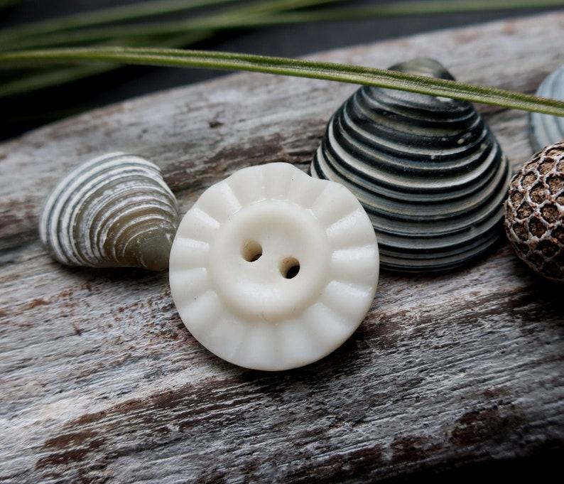 found on the west coast of scotland White milk sea glass button vintage button
