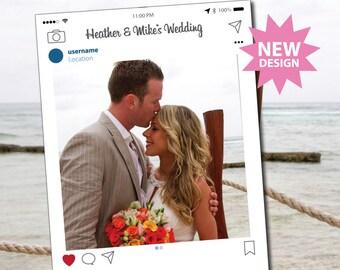 Instagram Frame Photo Booth Props, Photo Booth Prop, Instaframe, Social Media, Digital Download, Custom Design, Wedding Props