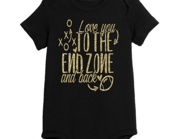 End Zone, Football, NFL, Football season, fall, super bowl, fantasy football, Onesie, baby shower, College Football