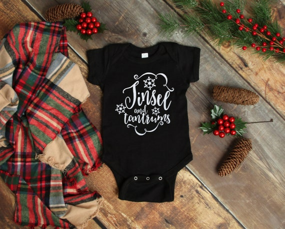 Tinsel and Tantrums Onesie