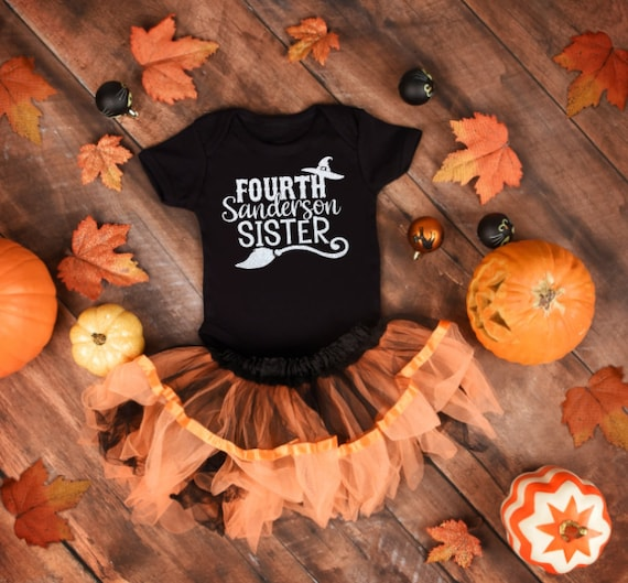Fourth Sanderson Sister Onesie, Baby girl halloween outfit