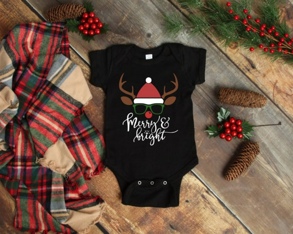 Merry & Bright Reindeer Christmas Onesie