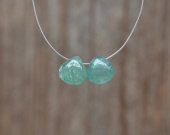 Emerald Heart Briolette Trio Destash