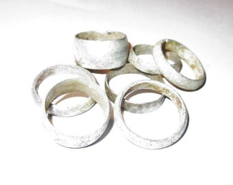Jewelers Wholesale Lot - Ancient Medieval Through Post Medieval Alloy Bands 1200-1800 AD - All 7 Bands for Forty Five Dollars!!