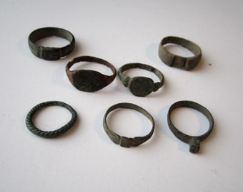 Authentic Viking Bronze Decorative Rings c. 800-1100AD - GROUP 2 -  Take Your Choice!!!!!  Many Sizes, Some With Runes!!!