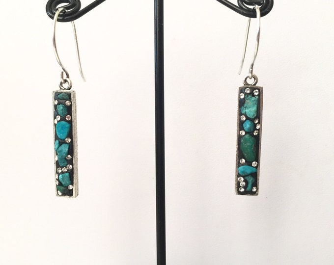 Natural Turquoise dangle earrings