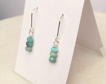 Petite Blue Opal dangle earrings