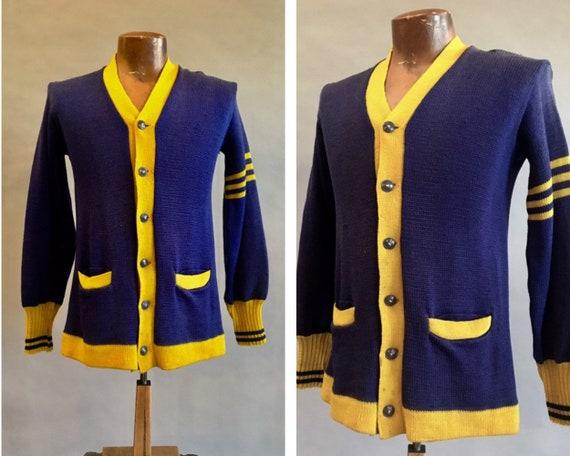 1940s Letterman Sweater / Varsity Sweater / Vintag