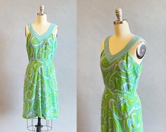 1960s Mod Dress / 60s Day Dress / 1960s GoGo Dress / 60s Mini Dress / Size Extra Small / Size Small