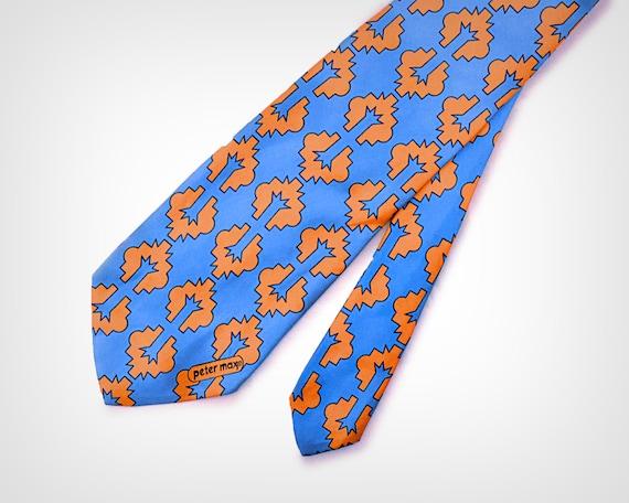 1960s Peter Max Geometric Print Necktie // Vintage