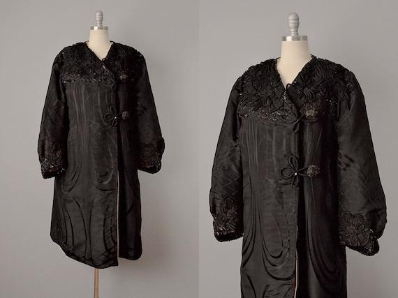 1800s Coat // Victorian Embellished Silk Coat / Vi