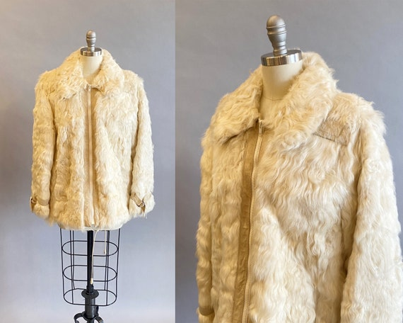 1960s Lamb Fur Jacket/ Bohemian Fur Jacket / Curly
