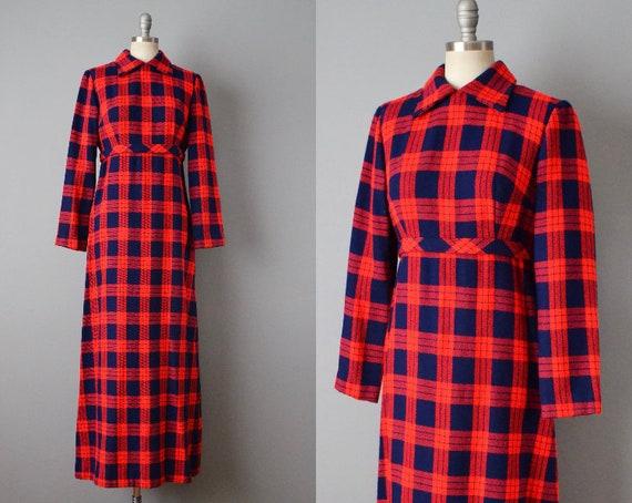 1970s Plaid Maxi Dress By Lanz / Tartan Dress / Ma