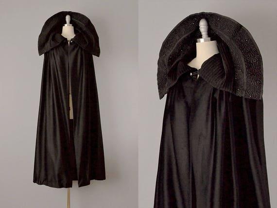 1800s Cape  // Victorian Fur Felt Embellished Cape