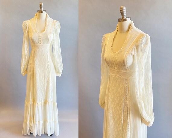 1970s Gunne Sax Dress / 70s Maxi Dress / 1970s Gu… - image 1