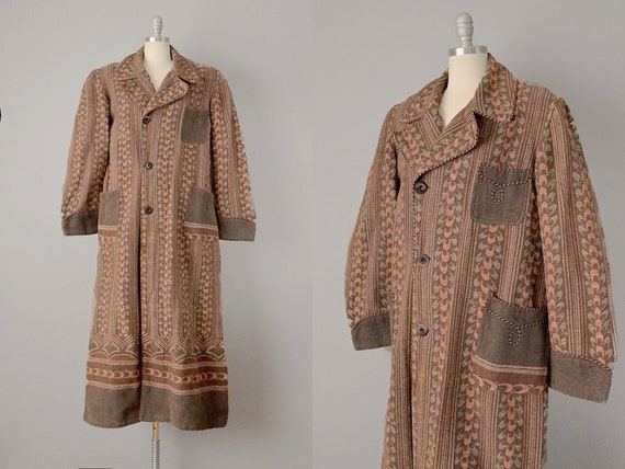 Early 1900s Robe //  Beacon Wool Blanket Robe // T