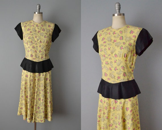 50% OFF SALE: 1940s Dress / Vintage 40s Day Dress