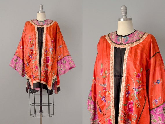SALE: 1800s Jacket // Early Embroidered Chinese Si