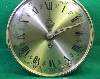 Vintage German Complete Clockworks with Doom Bezel and Key
