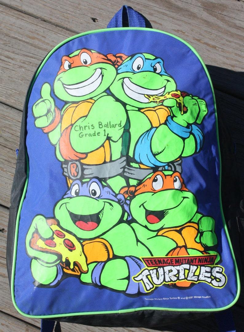 Vintage 1991 Mirage Teenage Mutant Ninja Turtles Backpack.