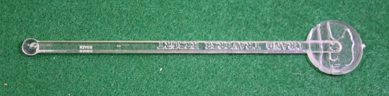 Vintage Grand  Traverse Resort The Bear Ashtray  two dozen swizzle sticks Tobacciana barware breweriana