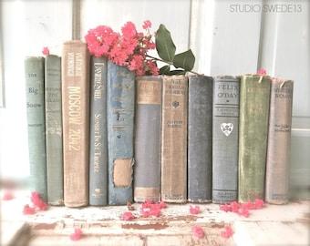 Vintage Book Photography, Antique Book Art Print, Modern Farmhouse Shabby Rustic Wall Art, Fixer Upper Decor, Home Office Library Decor