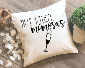 Mimosas pillow cover, pillow cover, champagne, bridesmaid gift, celebration