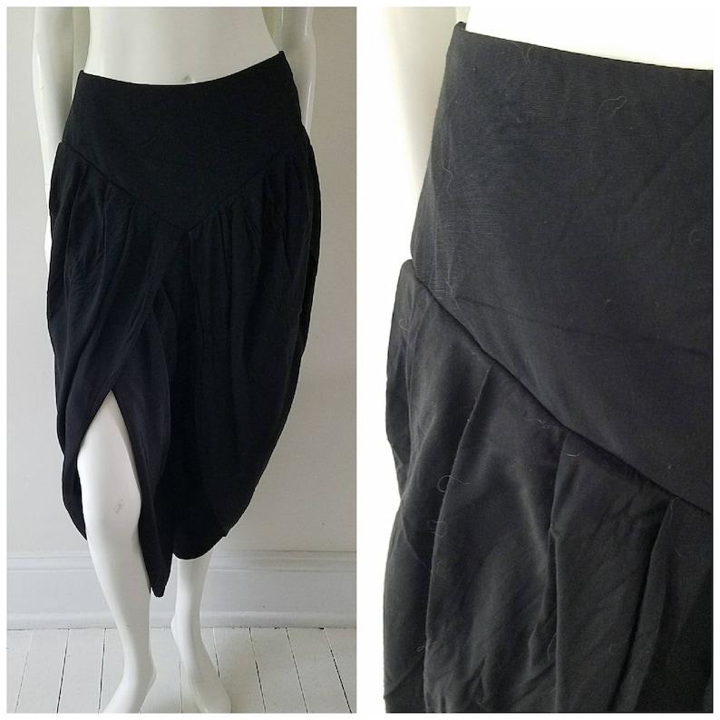 dc2c33c197 Vintage Black Harem Pants / Front Slit / Belly Dancing Pants / | Etsy
