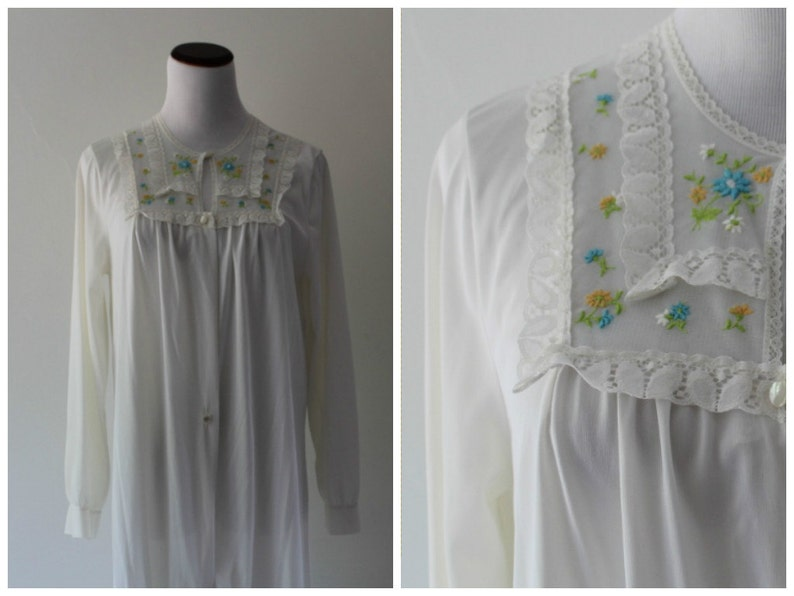 0d3e5700f99 White Long Sleeve Peignoir From JCPenney   Bed Jacket