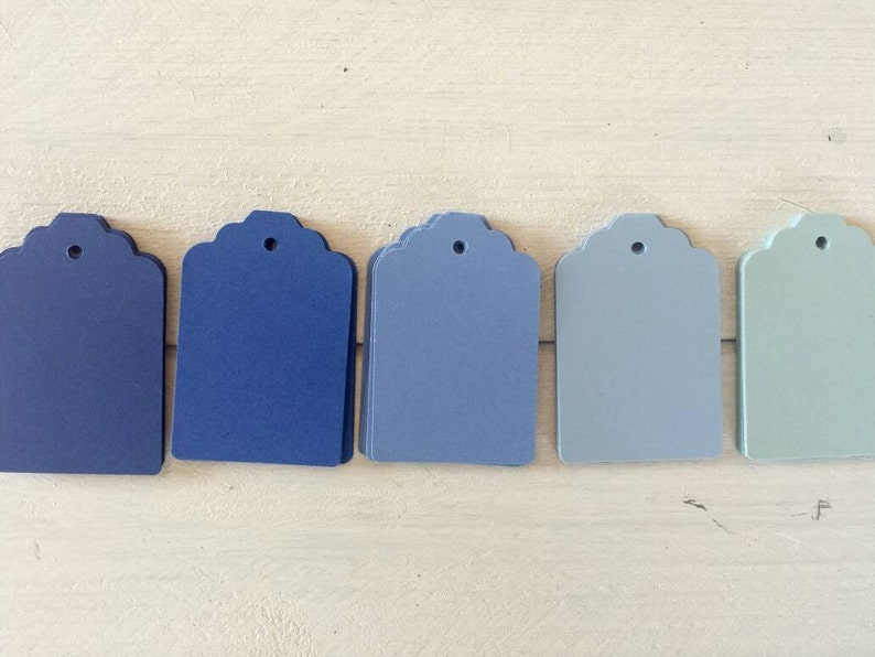 Royal Periwinkle Teal or Aqua Tags-25 Navy Blue Gift Tags-Light Blue Steele Blue 50 or 100-Hang Tags-Price Tags-Blank-Nautical Theme