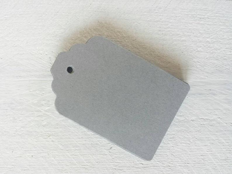 Grey Gift Tags-Light Grey Dark Grey-25 50 or 100-Hang Tags-Price Tags-Blank