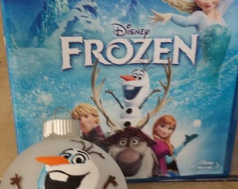 Hand painted Olaf from Frozen ornament