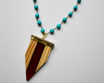 Adelaide Wood Necklace