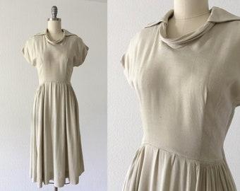 086ee3d794ed 1950s Paul Sachs rayon linen dress