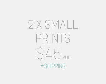 """Choose 2 x 8x10"""" or A4 Art Prints - Shipping Combined"""