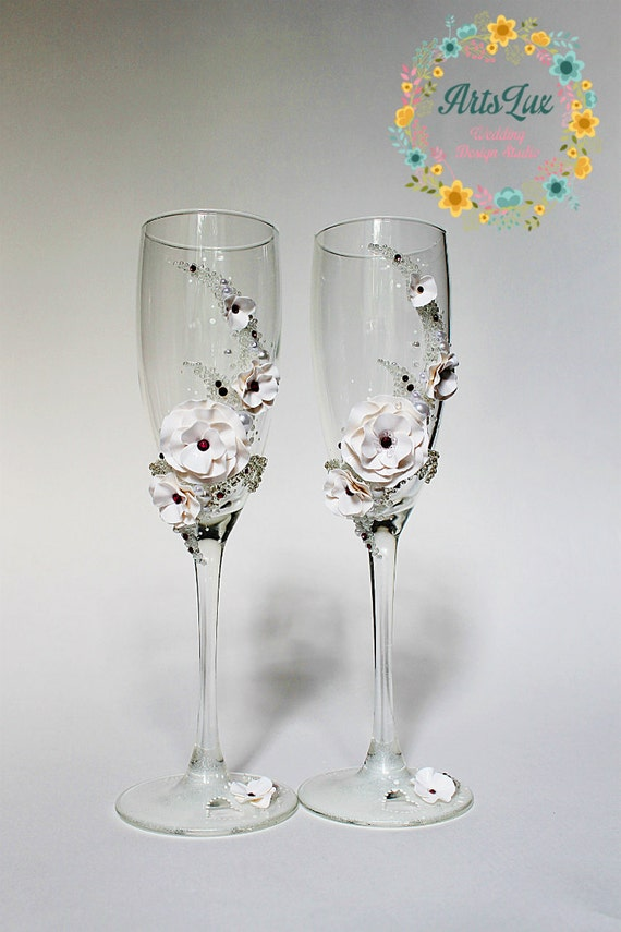 Hochzeit Sektgläser mit Swarovski-Kristallen Hochzeit | Etsy