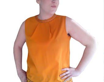 Yellow Silk Tunic