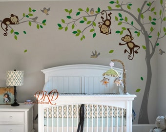 Monkey Wall Decal Etsy